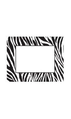 Small Boutique Black & White Zebra Sign Cards