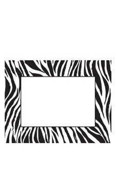 Large Boutique Black & White Zebra Sign Cards