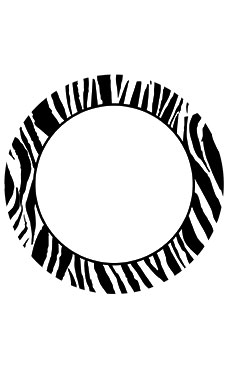 Boutique Circle Black/White Zebra Sign Cards