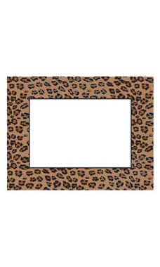 Large Boutique Leopard Brown Sign Cards