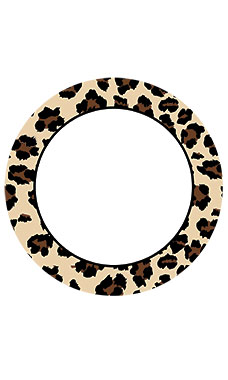 Boutique Circle Brown Leopard Sign Cards