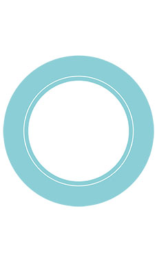 Boutique Circle Aqua Chevron Sign Cards