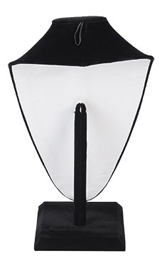 Tall Black Velvet Necklace Display