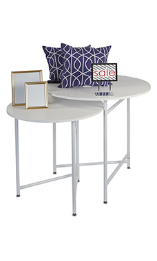 Round Nesting White Tables