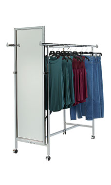 Full Length Mirror for Double Rail Rack with Z-Brace
