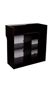 48 inch Black Ledgetop Service Counter Fully Assembled