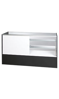70 inch Full Vision Black Display Case Fully Assembled
