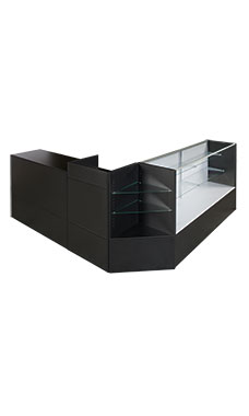 Black Display Case Arrangement Set - Fully Assembled