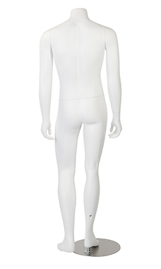 Male Headless White Fiberglass Mannequin