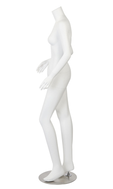 Female Headless White Fiberglass Mannequin