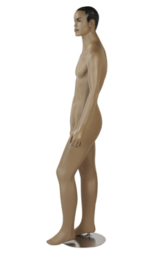 Male African-American Complexion Fiberglass Mannequin