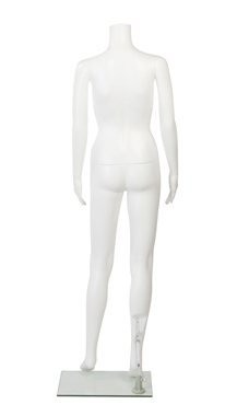 Female Headless White Plastic Mannequin- Straight Arms
