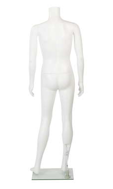 Male Headless White Plastic Mannequin