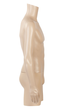 Male Plastic ¾ Body Mannequin
