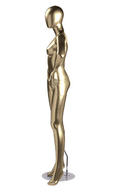 Female Gold Fiberglass Mannequin