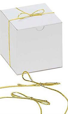 16 inch Shiny Gold Elastic Stretch Loops for Gift Boxes