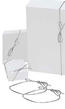 8 inch Shiny Silver Elastic Stretch Loops for Jewelry Boxes