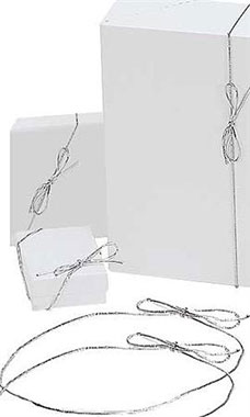 16 inch Shiny Silver Elastic Stretch Loops for Gift Boxes