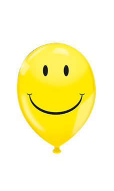 17 inch Yellow Smiley Face Latex Balloons