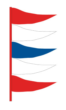 Red/White/Blue Plasticloth Antenna Pennant