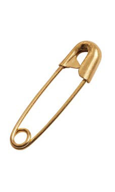 Closeable Brass Safety Pins
