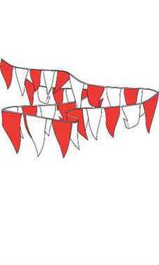 Red & White Pennant String