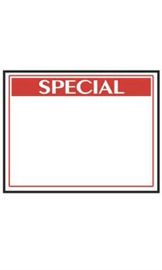 Small Economy Special Sign Cards