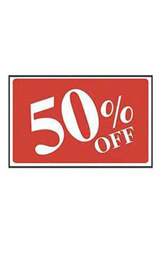 50% Off Rectangle Sign Card