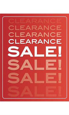 22 x 28 inch Clearance Sale Poster