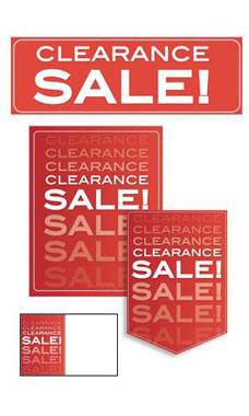 61 Piece Clearance Sale Sign Kit