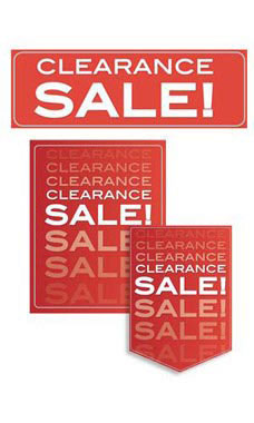 11 Piece Clearance Sale Sign Kit