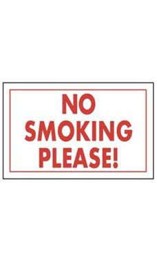 """No Smoking Please!"" Policy Sign"