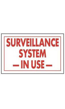 Surveillance System In Use Policy Sign Card