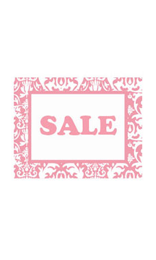 Small Boutique Pink Damask Sign Cards