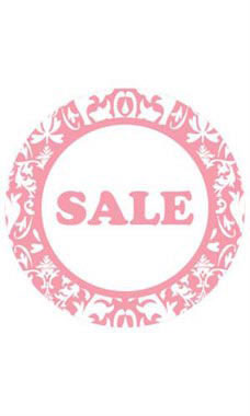 Boutique Circle Pink Damask Sign Cards