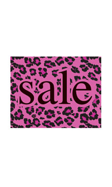 Small Boutique Pink Leopard Sign Cards