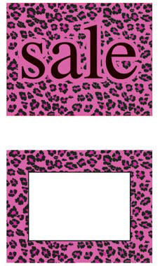 Large Boutique Pink Leopard Sign Cards