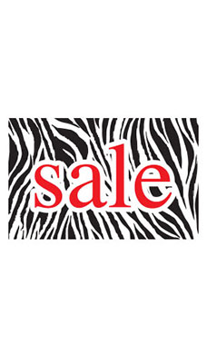 Medium Boutique Black & White Zebra Sign Cards