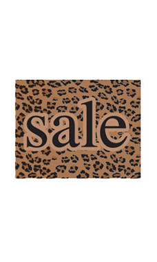 Small Boutique Brown Leopard Sign Cards
