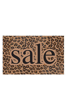 Medium Boutique Brown Leopard Sign Cards