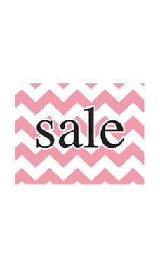 Small Boutique Pink Chevron Sign Cards