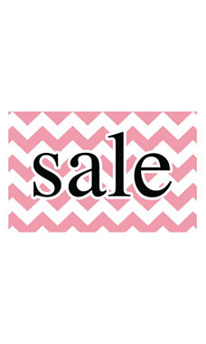 Medium Boutique Pink Chevron Sign Cards