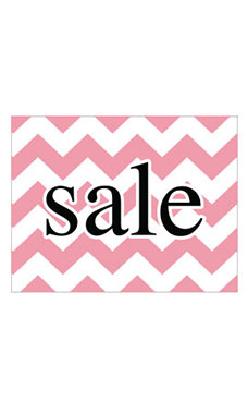 Large Boutique Pink Chevron Sign Cards