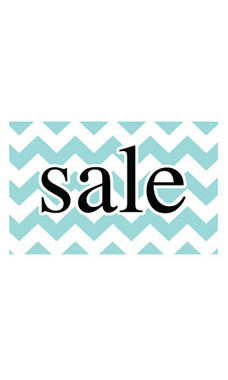 Medium Boutique Aqua Chevron Sign Cards