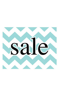 Large Boutique Aqua Chevron Sign Cards