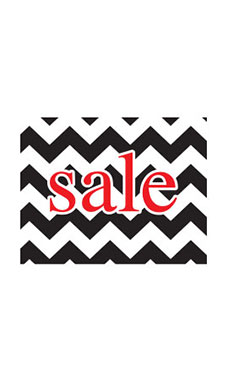 Small Boutique Black Chevron Sign Cards