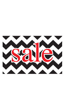 Medium Boutique Black Chevron Sign Cards
