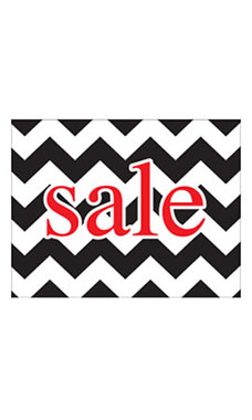 Large Boutique Black Chevron Sign Cards