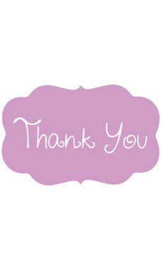 Decorative Lavender Thank You Embellishment
