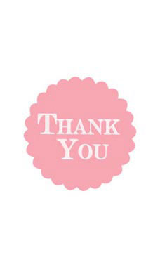Pink Floral Burst Thank You Embellishment